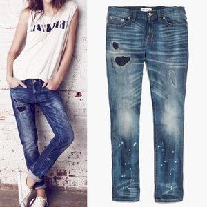 Madewell Rip and Repair slim boyfriend jeans
